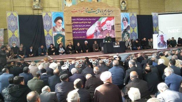 ترور سردار سلیمانی باعث همسبتگی ملی درتحقق گام دوم انقلاب میشود