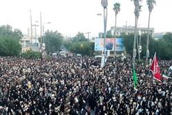 Ahvaz'da şehit Korgeneral Süleymani için cenaze töreni düzenlendi