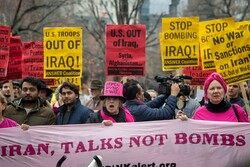 شہید قاسم سلیمانی کی حمایت میں امریکی شہروں میں مظاہرہ