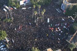 Korgeneral Süleymani'nin Ahvaz'daki cenaze töreninden fotoğraflar