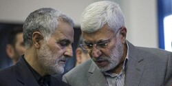 Iranian commander Lt. Gen. Qassem Soleimani and the deputy chief of Iraq's PMF Abu Mahdi al-Muhandis