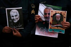 Iranian commander Lt. Gen. Qassem Soleimani and the deputy chief of Iraq's PMF Abu Mahdi al-Muhandi