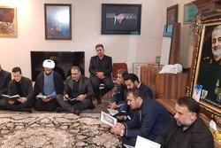 حضور رئیس فدراسیون جودو در منزل شهید سپهبد سلیمانی