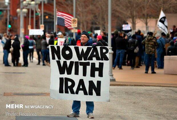 تظاهرات در شهرهای آمریکا در محکومیت ترور سپهبد سلیمانی