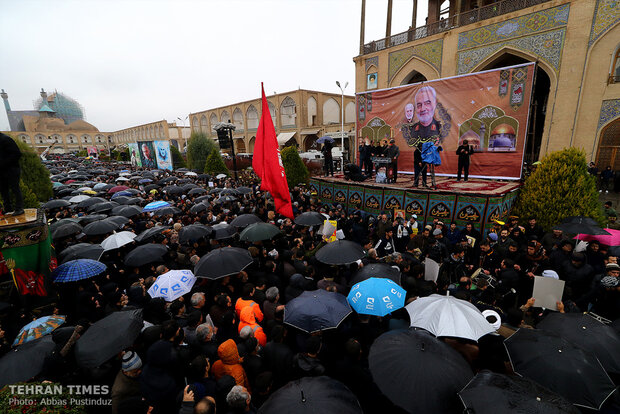 Commemoration of martyr Lt. Gen. Soleimani in Isfahan