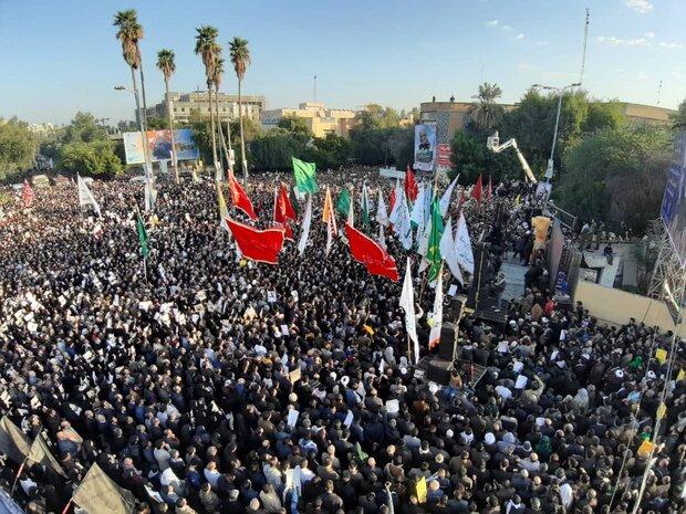 تشییع پیکر سردار سلیمانی در اهواز