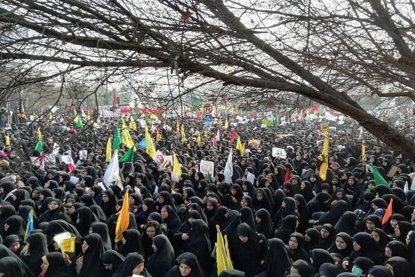میدان ۱۵ خرداد مشهد در آستانه مراسم تشییع سردار آسمانی