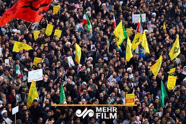 حضور میلیونی مردم مشهد در استقبال از حاج قاسم و همرزمانش