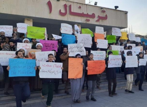 دانشجویان امیرکبیر در فرودگاه مهرآباد تجمع کردند