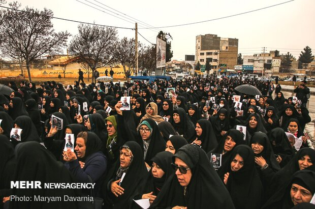 راهپیمایی مردم خراسان شمالی در پی شهادت سردار سپهبد حاج قاسم سلیمانی