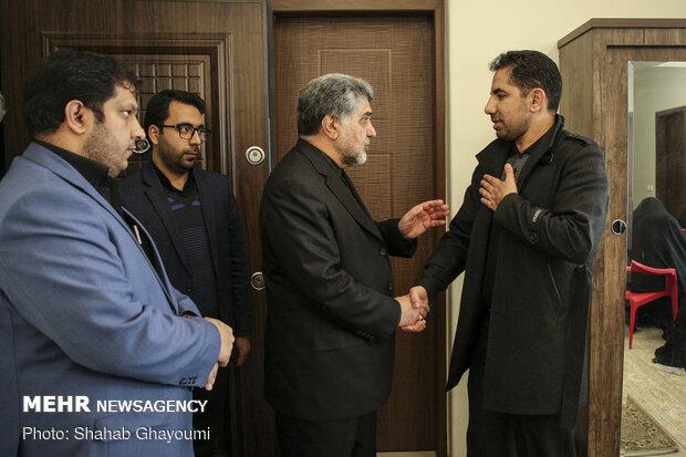 حضور استاندار اسبق تهران در منزل شهید پورجعفری