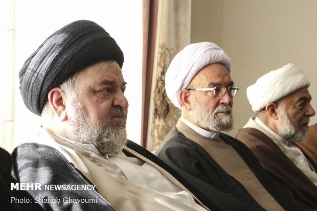 حضور نماینده آیت الله سیستانی در منزل شهید پورجعفری