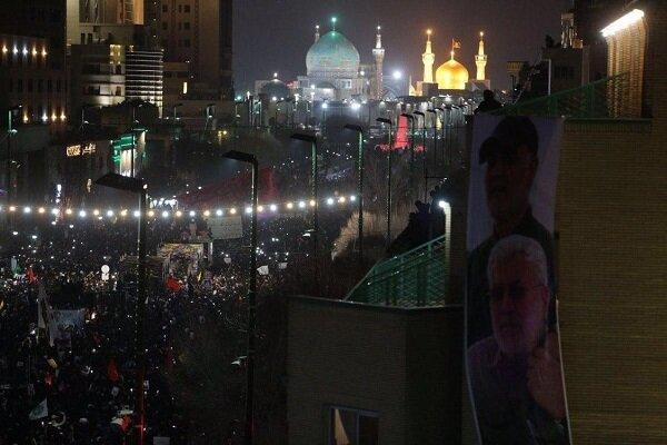 تشییع پیکر شهدای مقاومت با حضور میلیونی مردم در مشهد