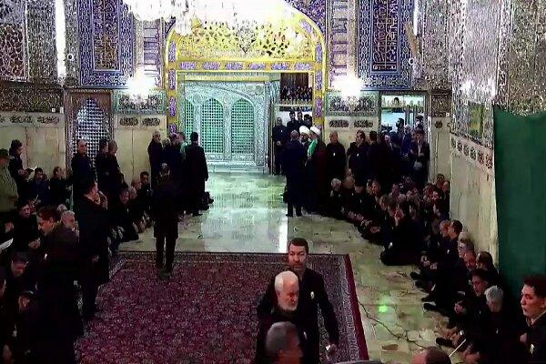 آمادهسازی روضه منوره حضرت رضا(ع) برای طواف پیکر شهدای مقاومت