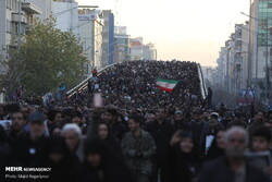 Massive funeral procession underway in Tehran for Lt. Gen. Qasem Soleimani