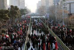 تہران میں سپاہ اسلام کے عظیم الشان کمانڈر شہید قاسم سلیمانی کی تشییع جنازہ