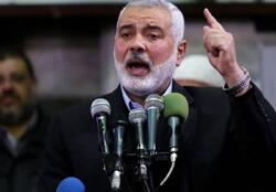 Soleimani martyrdom won't change path of Resistance: Ismail Haniyeh