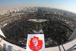 Millions participate at funeral procession of Lt. Gen. Soleimani in Tehran