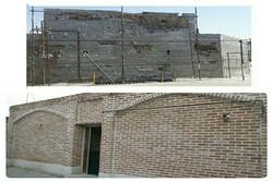 مرمت جداره بیرونی حمام تاریخی فامنین تکمیل شد