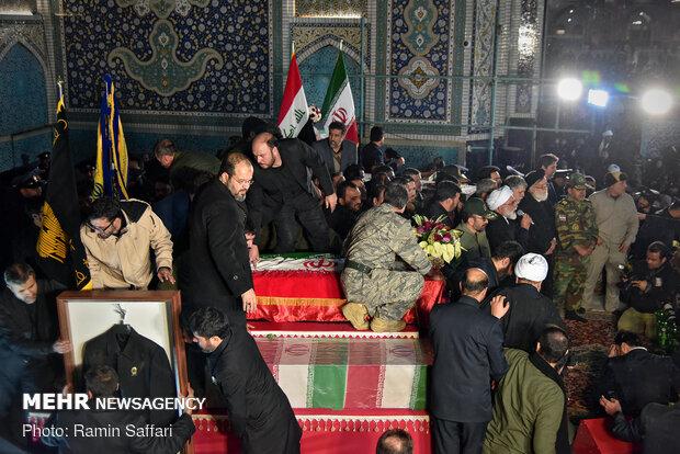 وداع تاریخی مردم مشهد با پیکر مطهر سپهبد حاج قاسم سلیمانی