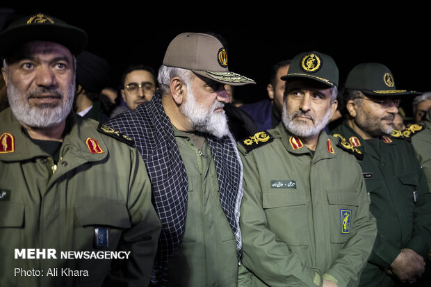 Gen. Soleimani's body arrives in Tehran