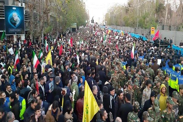 این بزرگترین مراسم تشییع بعد از رحلت امام خمینی است