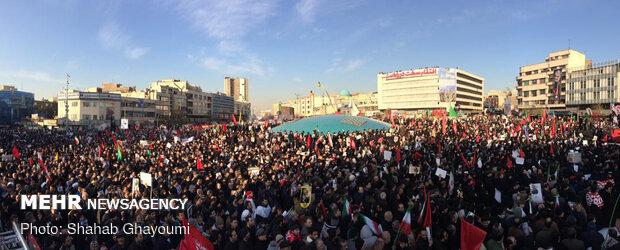 Millions of Iranians in Tehran taking part at massive funeral procession for Lt. Gen. Qasem Soleimani