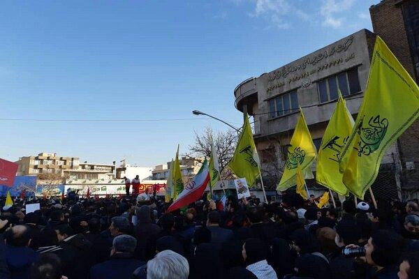 حضور اعضای کتائب حزب الله عراق درمراسم تشییع شهید سلیمانی درتهران