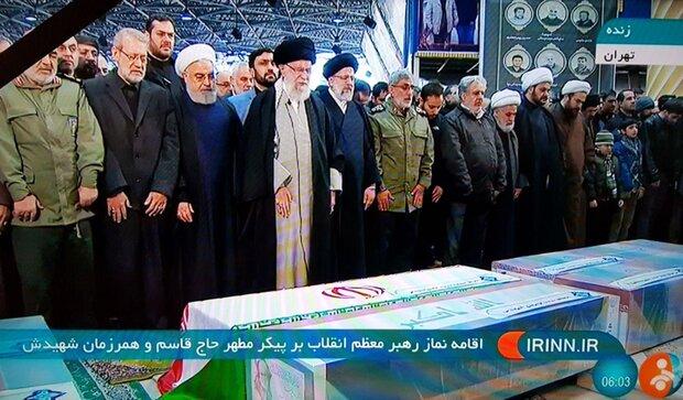 «روحانی» در مراسم تشییع پیکر سردار سلیمانی شرکت کرد