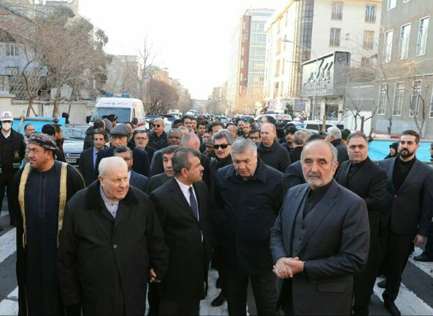 Foreign ambassadors to Iran attend at funeral procession of Lt. Gen. Soleimani