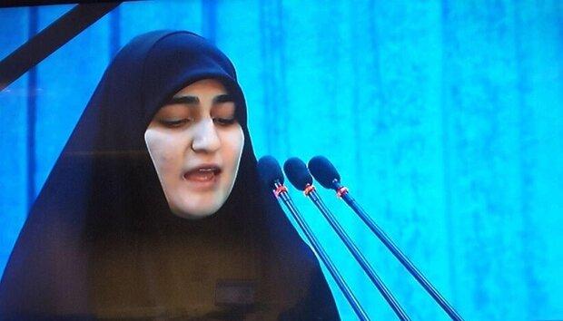 ابنة الفریق سليماني: التشييع المليوني للشهداء في العراق وإيران رسالة واضحة لأميركا