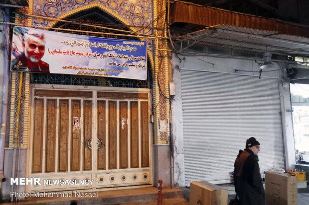 حال و هوای شهر گرگان در پی شهادت سپهبد حاج قاسم سلیمانی