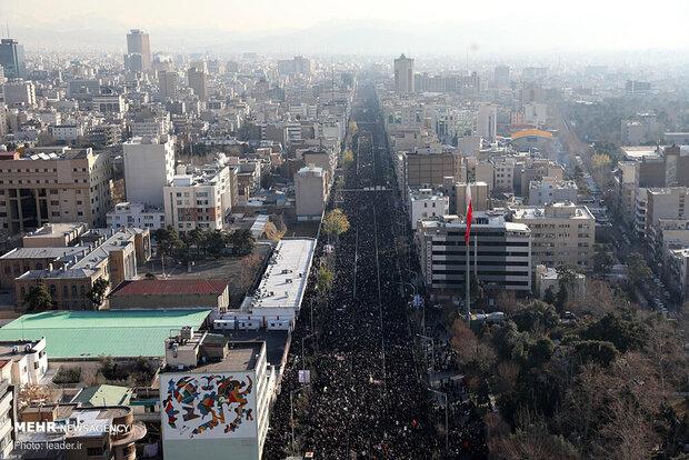 Aerial photos of General Soleimani funeral in Tehran