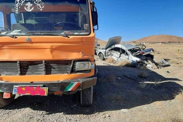 تصادف در تفت ۴ کشته و زخمی و برجای گذاشت