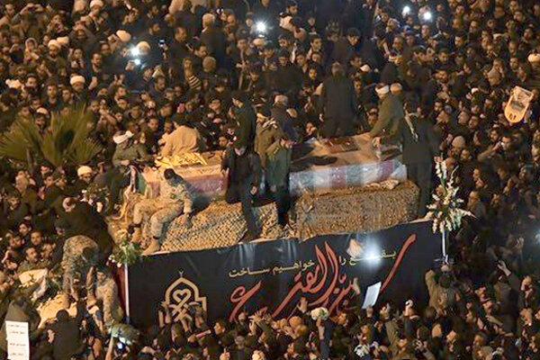 VIDEO: Funeral processions of Lt. Gen. Soleimani towards Jamkaran Mosque