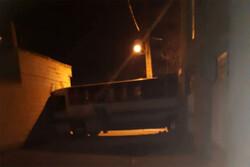 سارق اتوبوس در ورامین خودرو را به دیوار کوبید