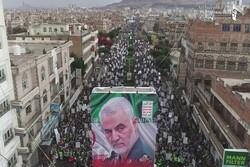 صنعا میں شہید قاسم سلیمانی کو کئی ملین افراد نے خراج عقیدت پیش کیا