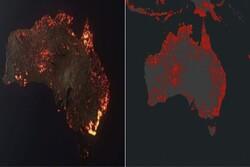 وێنەی راستەقینەی ناسا لە دۆزەخی ئۆسترالیا