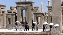 Japanese tourists visit Iran's Persepolis, 460 miles south of Tehran (Copyrightfile/AP-VAHID SALEMI)