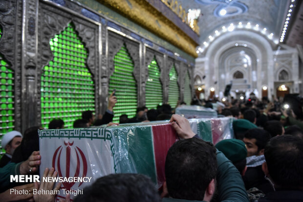 Two bodies of martyrs of resistance in Imam Khomeini (RA) Mausoleum