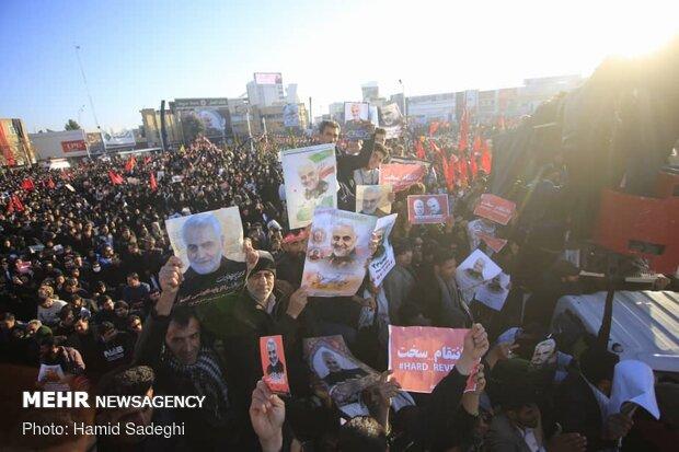 Millions join Lt. Gen. Soleimani's funeral in Kerman