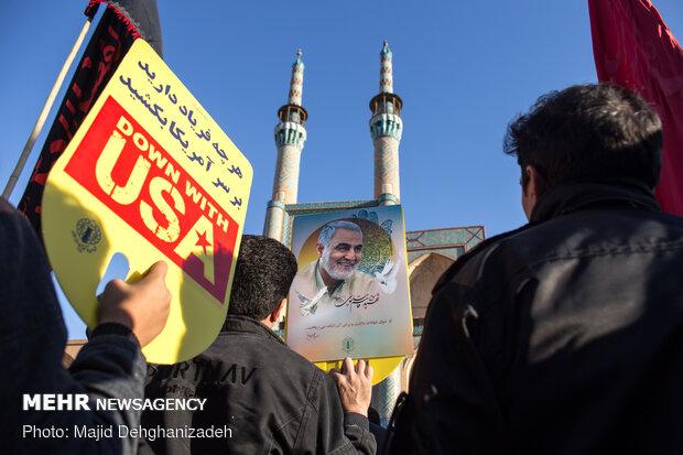 People commemorate Gen. Soleimani in Yazd
