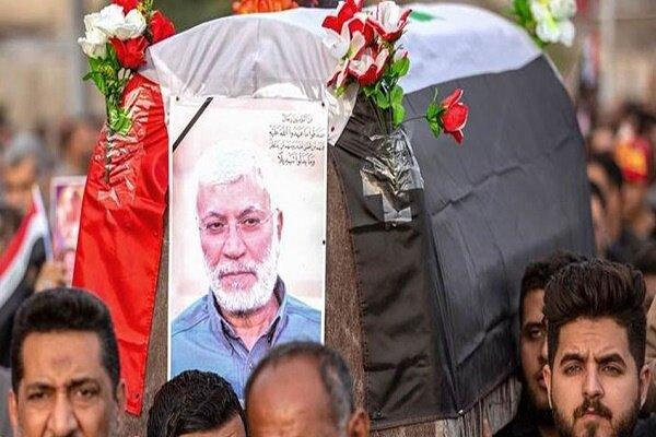 شہید ابو مہدی مہندس کے پیکر پاک کی بصرہ میں تشییع