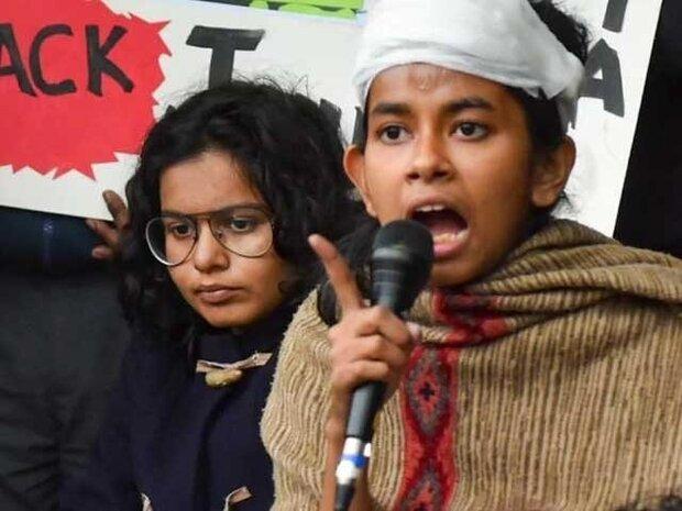 جواہر لعل نہرو یونیورسٹی کے زخمی طلباء کے خلاف مقدمہ