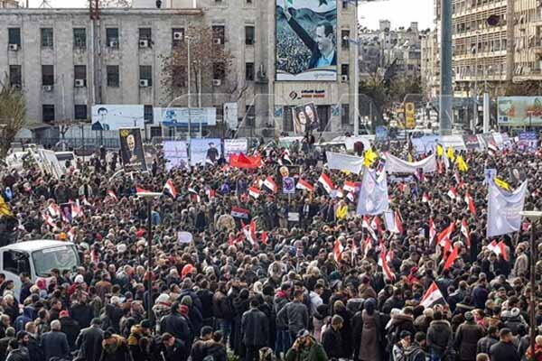 Magnificent rally in Syria's Aleppo in condemnation of assassination of Lt. Gen. Soleimani