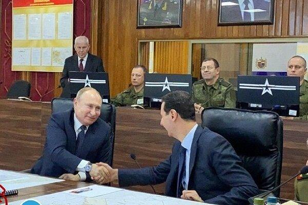 Putin meeting Assad in Syria