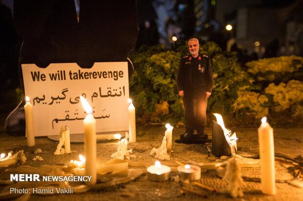 مراسم شام غریبان شهید سپهبد حاج قاسم سلیمانی در تهران