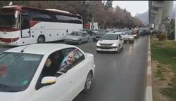 رژه موتورسواران و ماشینسواران برای حمایت از «انتقام سخت»