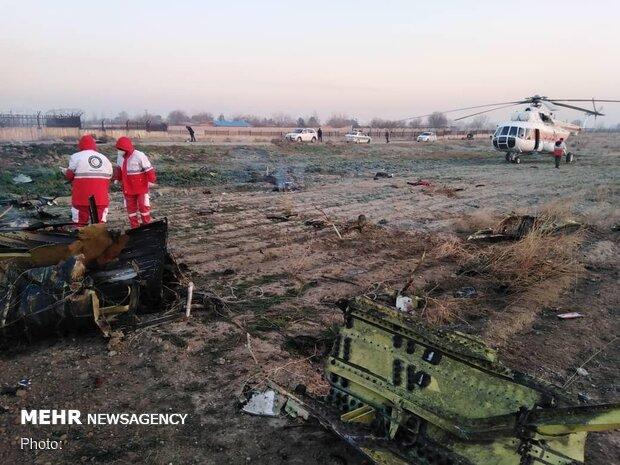 سقوط طائرة أوكرانية على متنها 170 قرب مطار الإمام الخميني بطهران