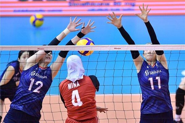 شکست سنگین تیم ملی والیبال زنان ایران مقابل کره جنوبی